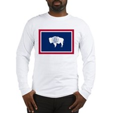 Wyoming flag Long Sleeve T-Shirt