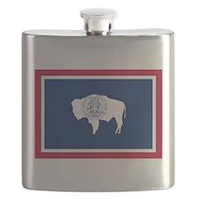 Wyoming flag Flask
