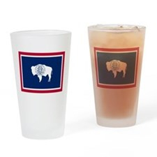 Wyoming flag Drinking Glass