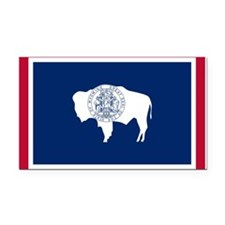 Wyoming flag Rectangle Car Magnet