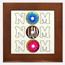 Nom Nom Nom Yummy Doughnuts Framed Tile