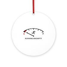 Running On Empty Ornament (Round)