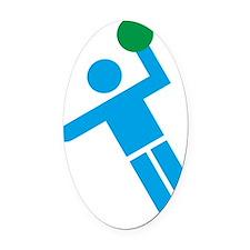 handball Oval Car Magnet