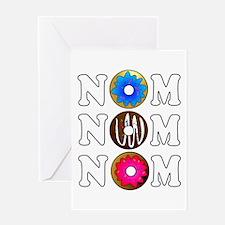 Nom Nom Nom Yummy Doughnuts Greeting Cards