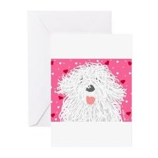 Heart Sheepdog Greeting Cards (Pk of 10)