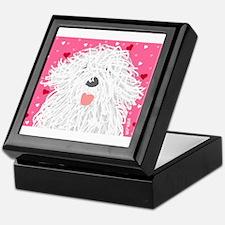 Heart Sheepdog Keepsake Box