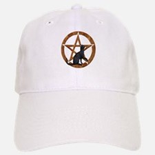 Pentacle with Cat Baseball Baseball Cap