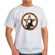 Pentacle with Cat T-Shirt
