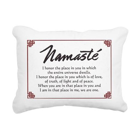 Namaste ?? Rectangular Canvas Pillow