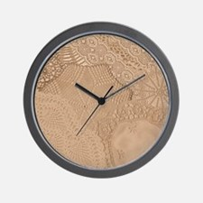 Lace panel Wall Clock