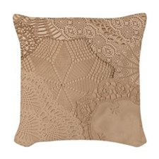 Lace panel Woven Throw Pillow