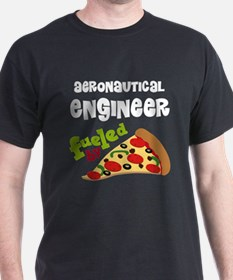 Aeronautical engineer Fueled By Pizza T-Shirt