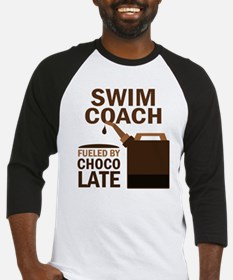 Swim Coach Chocolate Baseball Jersey