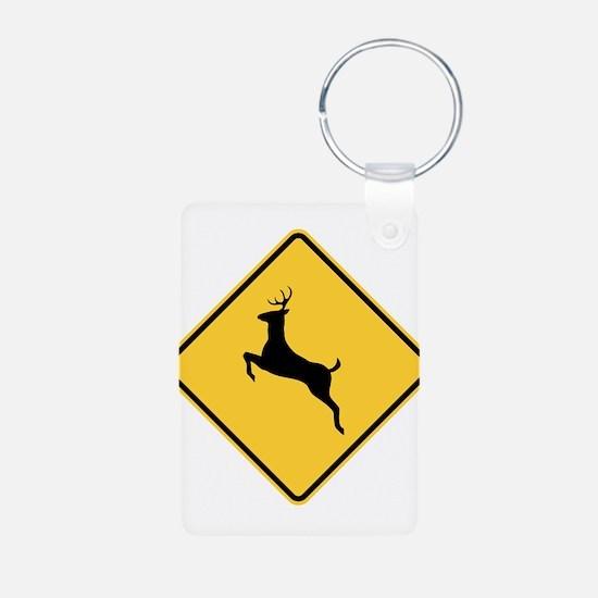 Deer Crossing Sign Keychains