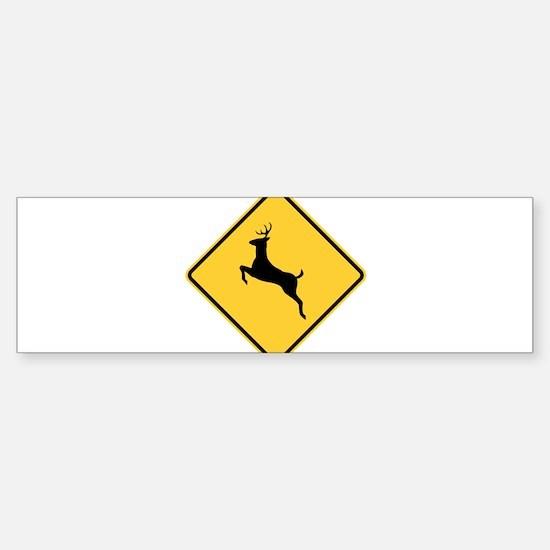 Deer Crossing Sign Bumper Car Car Sticker