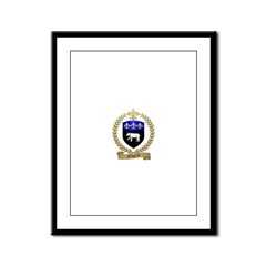 GINGRAS Family Crest Framed Panel Print