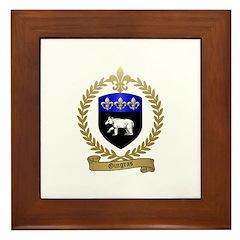 GINGRAS Family Crest Framed Tile