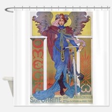 Omega Bicycle Poster Shower Curtain