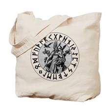 Odin Rune Shield Tote Bag