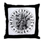 Odin Rune Shield Throw Pillow