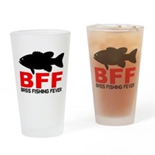 BASS FISHING FEVER Drinking Glass