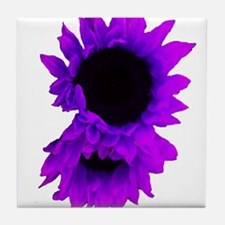 Purple Sunflowers Tile Coaster