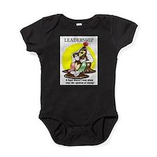 LEADERSHIP CARTOON QUOTE Baby Bodysuit