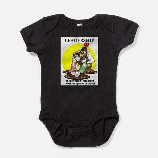 LEADERSHIP CARTOON QUOTE Baby Bodysuit
