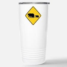 Migrating Bears Sign Travel Mug