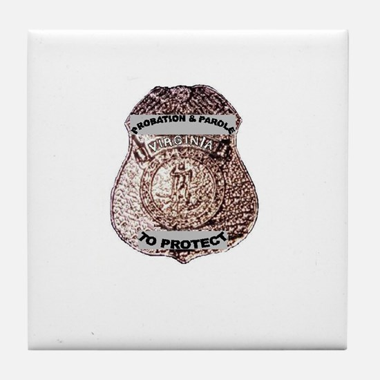 Badge on Tile Coaster