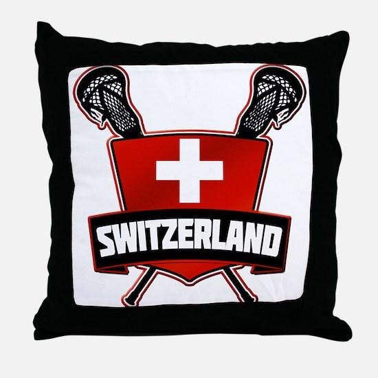 Schweiz Swiss Lacrosse Throw Pillow
