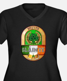 Boyle's Irish Pub Women's Plus Size V-Neck Dark T-
