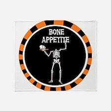 Bone Appetite - Skeleton holding a head on a platt