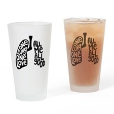 One Lung One Love - Righty Drinking Glass