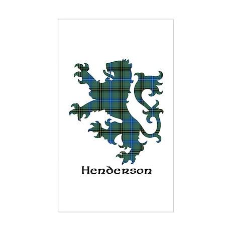 Lion - Henderson Sticker (Rectangle)