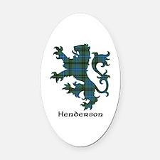 Lion - Henderson Oval Car Magnet