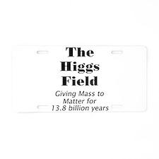 Higgs Field Aluminum License Plate