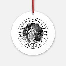 Freya Rune Shield Ornament (Round)