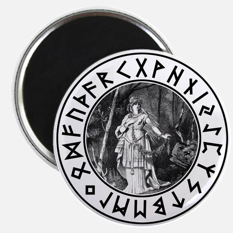 "Freya Rune Shield 2.25"" Magnet (10 pack)"