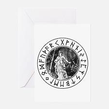 Freya Rune Shield Greeting Card