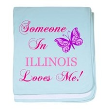 Illinois State (Butterfly) baby blanket