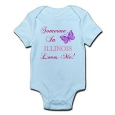 Illinois State (Butterfly) Infant Bodysuit