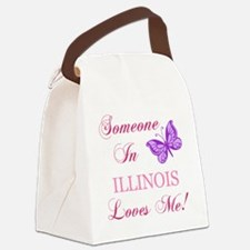 Illinois State (Butterfly) Canvas Lunch Bag