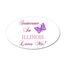 Illinois State (Butterfly) Wall Decal