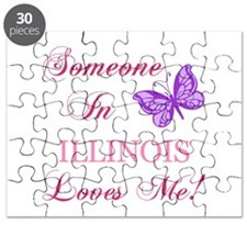Illinois State (Butterfly) Puzzle