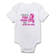 Personalized Breast Cancer Custom Infant Bodysuit