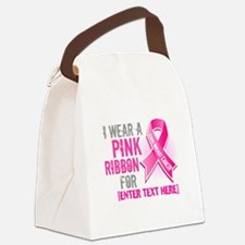 Personalized Breast Cancer Custom Canvas Lunch Bag