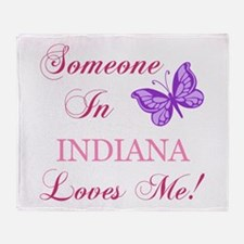 Indiana State (Butterfly) Throw Blanket