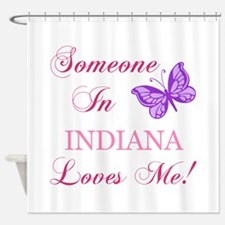 Indiana State (Butterfly) Shower Curtain