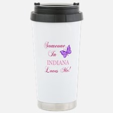 Indiana State (Butterfly) Travel Mug